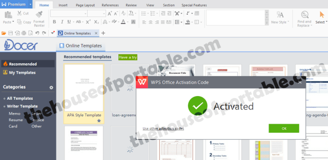 wps office premium 2016 portable