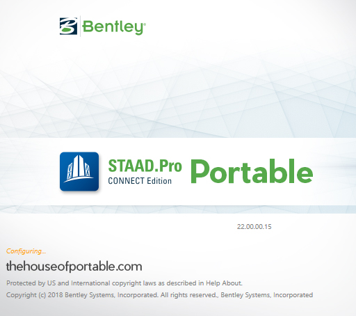 bentley staad.pro connect edition portable