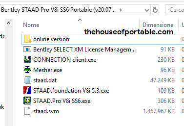 staad pro v8i ss6 portable files
