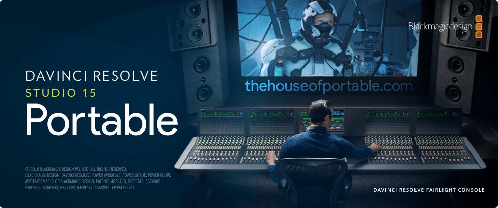 DaVinci Resolve Studio 15 2 Portable - The House of Portable