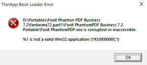 Error not valid Win32 application.PNG