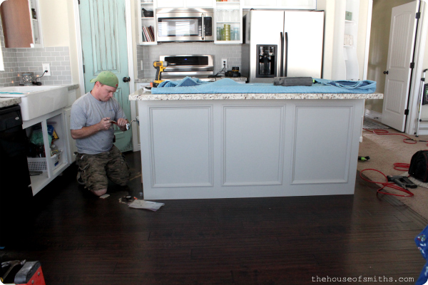 new grey kitchen island the house of smiths kitchen makeover