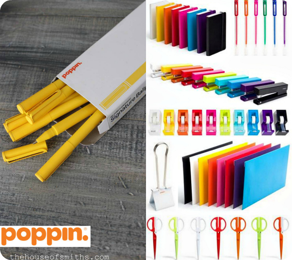 Poppin desk supplies - colorful office supplies