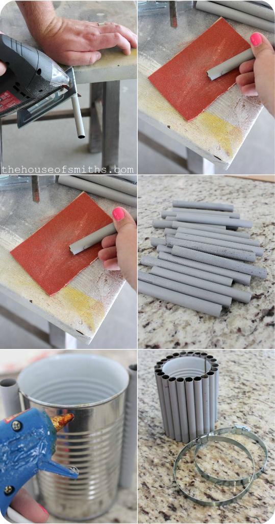 Repurposed DIY Pencil Holder - Krylon Mystery Box Challenge - thehouseofsmiths.com