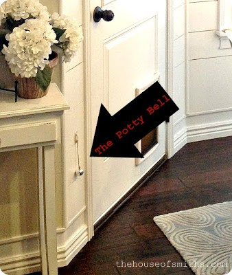 installing a doggy door, thehouseofsmiths, dog people, doggy bell, puppy potty training