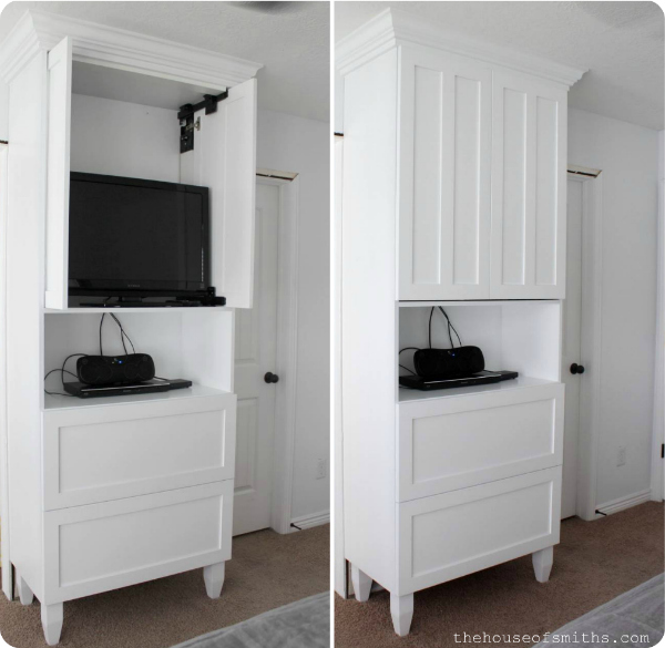 TV Cabinet for TV Storage in Master Bedroom - thehouseofsmiths.com