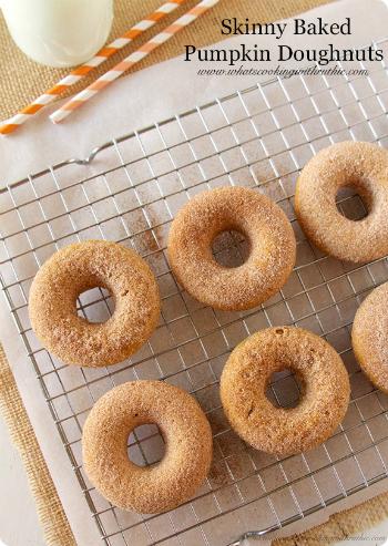 Skinny Baked Pumpkin Doughnuts