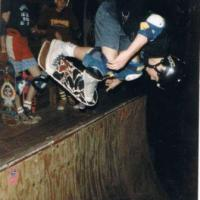 154: Just an average night at the Barn (by Dennis Kane)...NYC's Godfather of skateboarding Jeremy Henderson, Tom Groholski and Jim Murphy circa 85