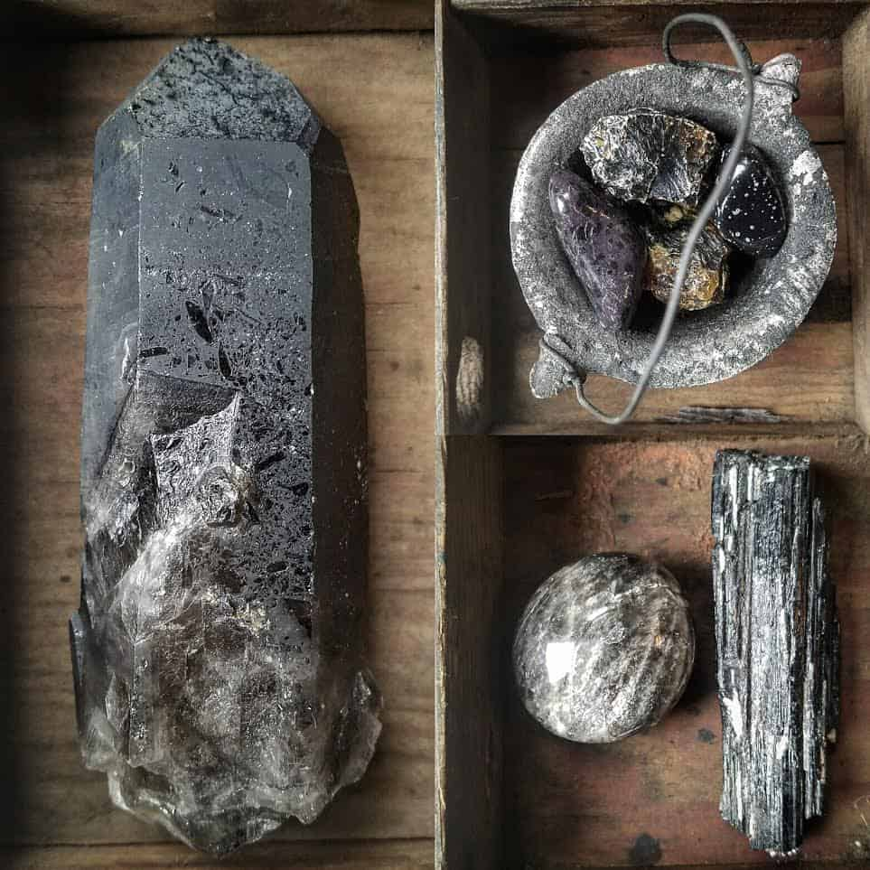 nightshade botanicals, sceptre, wand, staff, crystal, witch, apothecary, seattle