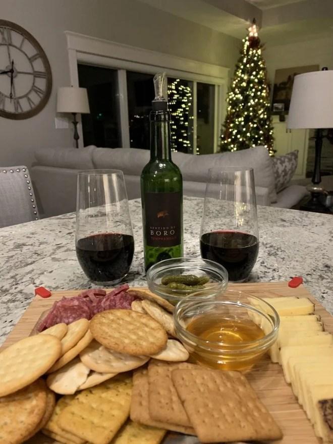 Wine and charcuterie in Costco's Wine Advent Calendar