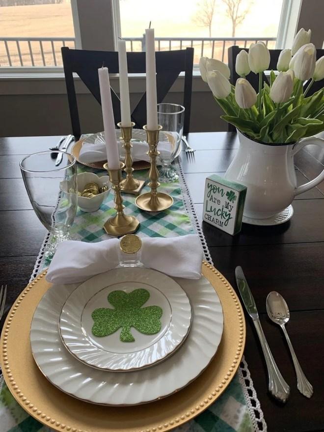 Saint Patrick's Day table setting