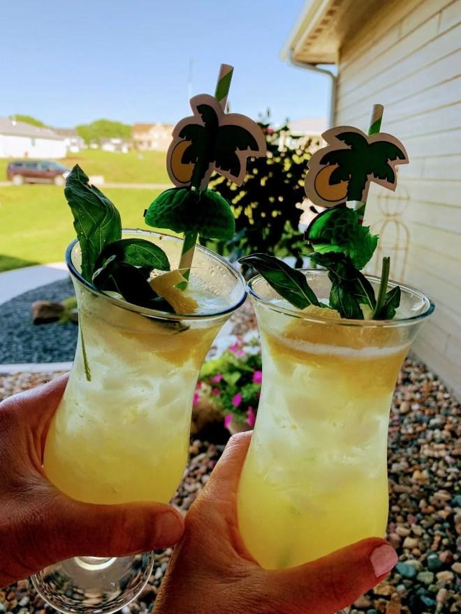 Pineapple Basil Vodka Smash Cocktail
