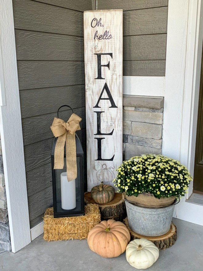On my porch. Make Your Own Fall Porch Sign