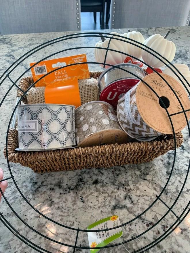 wreath frame for DIY Burlap & Ribbon Wreath