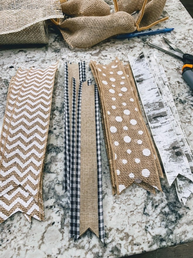 Ribbon for DIY Burlap & Ribbon Wreath