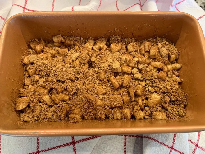 More spices for the filling. Farmhouse Apple Fritter Bread with Cider Glaze