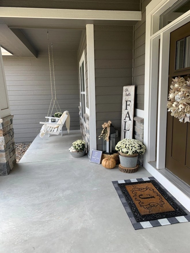 Seasonal Porch decorating can make your home feel cozy and welcoming.