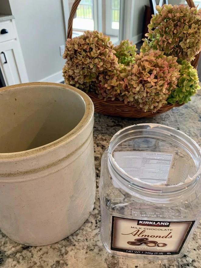 Dried Hydrangea Fall Arrangement