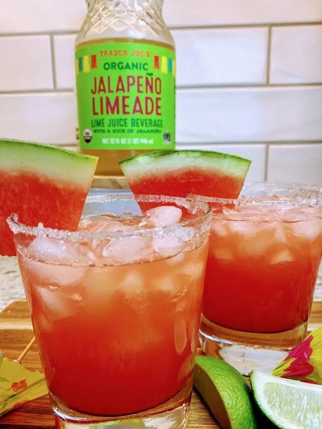 Trader Joe's Jalapeño Limeade Watermelon Margaritas