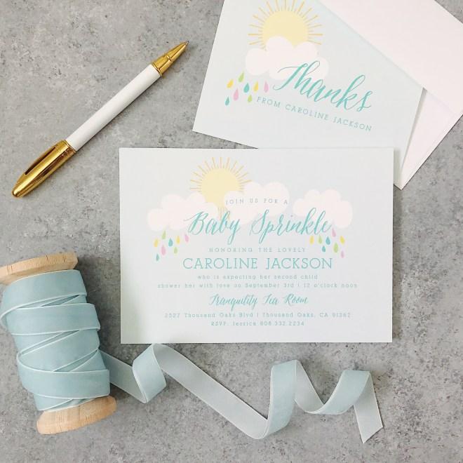 Baby Sprinkle invitations by Basic Invites