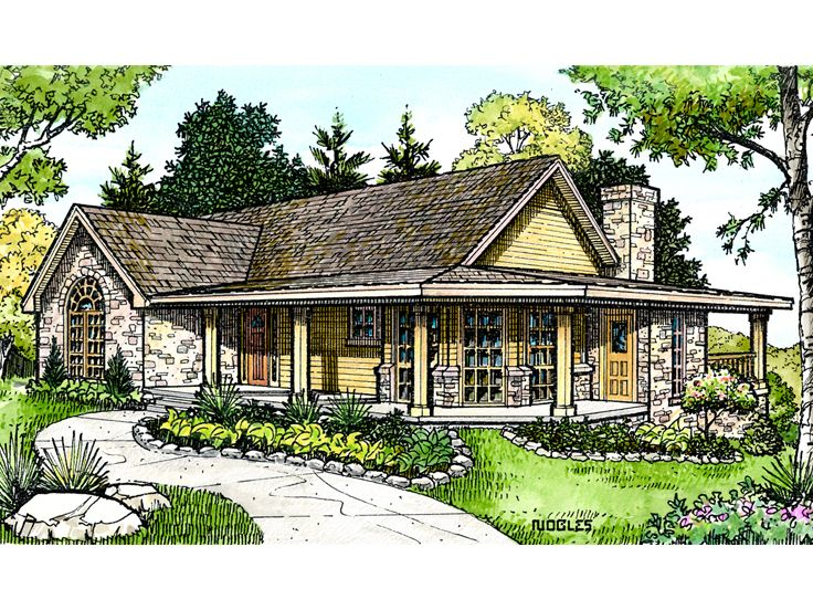 1-Story Family Home Plan Design