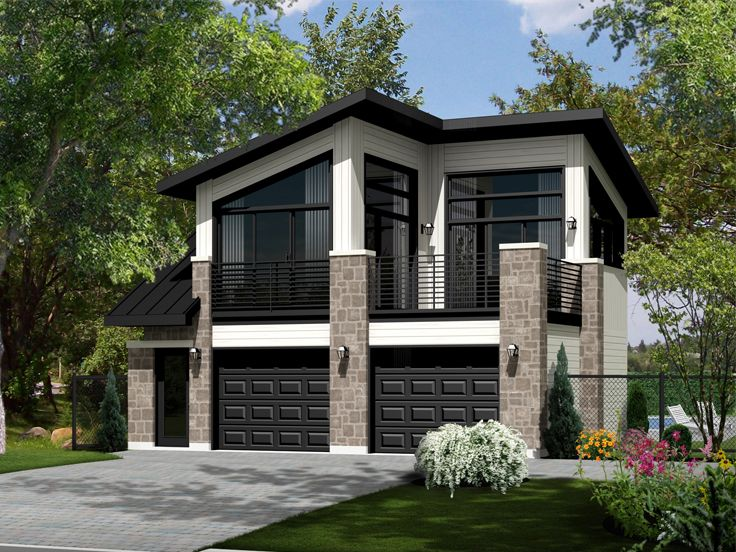 Modern Carriage House Plan # 072G