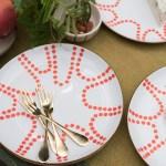 Diy Coral Dots Dessert Plates