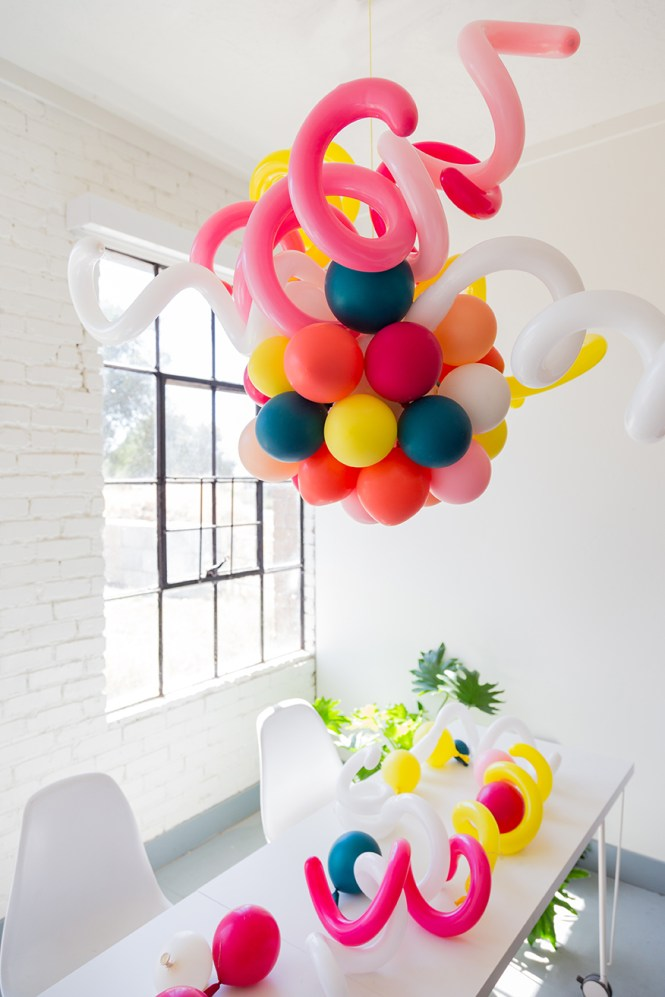 Balloon Chandelier For A Party Diy