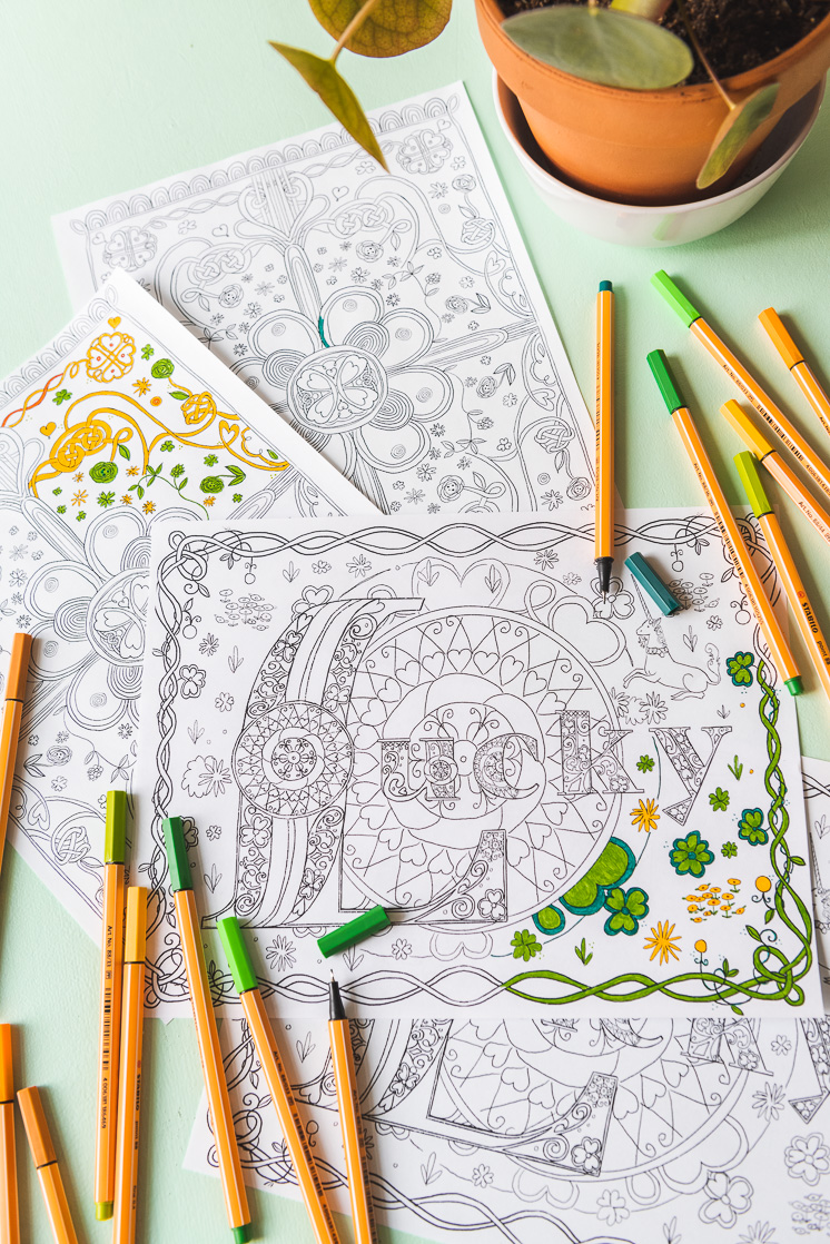 St Patrick S Day Coloring Pages The House That Lars Built