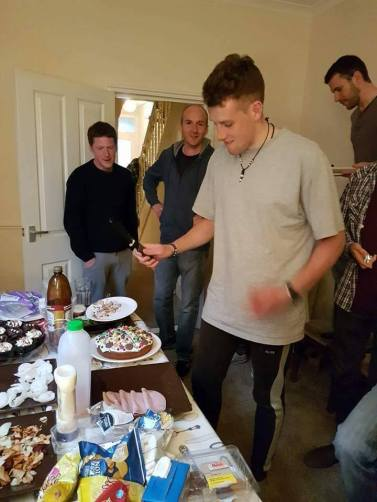 All Sunday afternoon and evening we had a shindig celebrating Dan's birthday