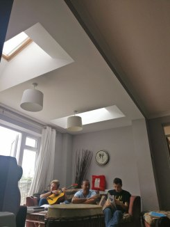 Our Sunday morning meeting In the lounge