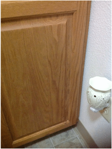 After Scentsy stains removed from wooden cupboards.