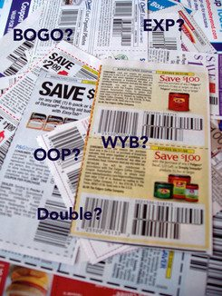 Ever wondered exactly what all those coupon terms (and random letters!) mean? Here is coupon lingo deciphered, a quick explanation of those terms.