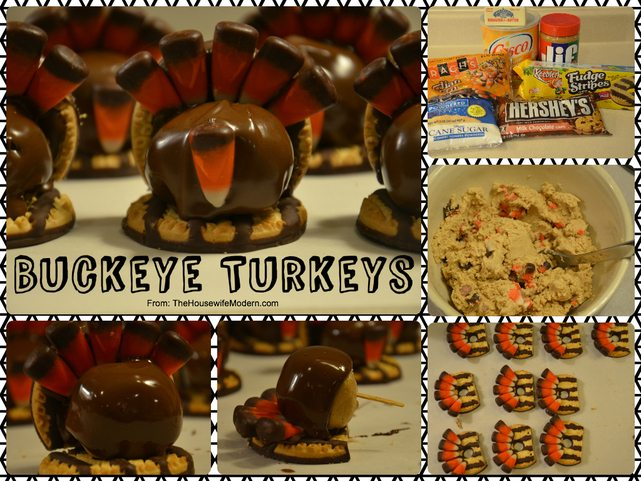 Cute buckeye turkeys for Thanksgiving...kid-friendly (both eating & making!)