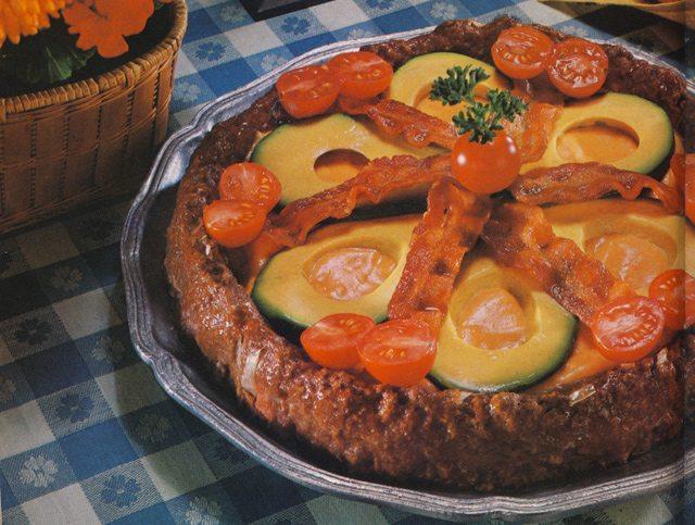 Insane Vintage Recipes: Avocado Meatza