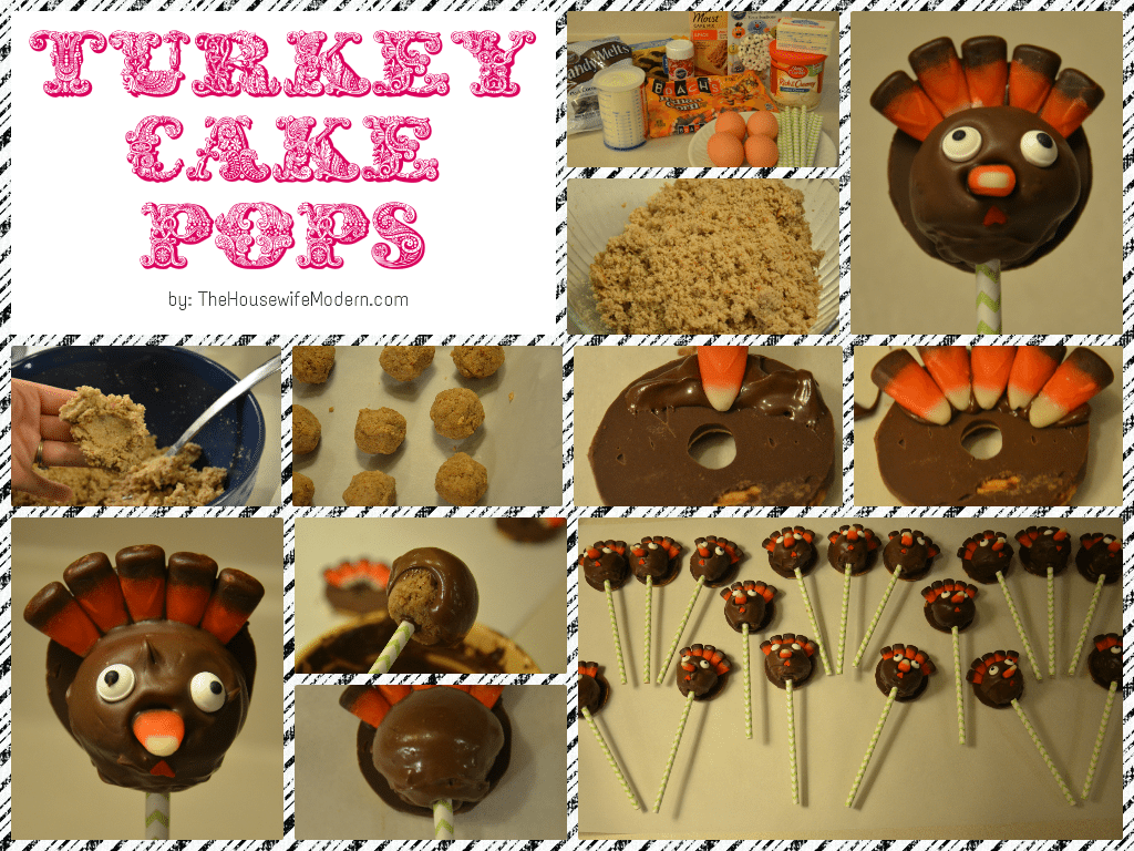 Turkey Cake Pops...so cute! Don't know whether the kids will have more fun making them or eating them.