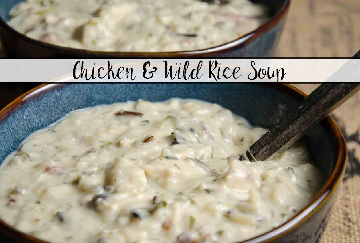 Creamy Chicken and Wild Rice Soup. The most delicious soup you'll ever eat. Thick, creamy, comforting soup your family will love.