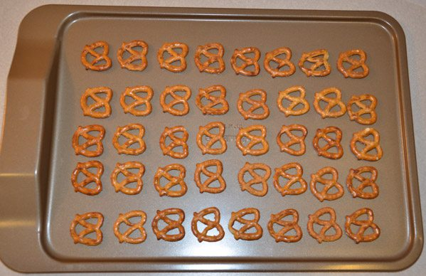Place pretzels directly on a cookie sheet.