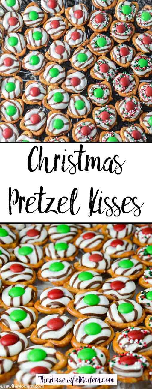 Christmas Pretzel Kisses: quick, ridiculously easy, and delicious. Perfect for a party appetizer or a salty-sweet snack.