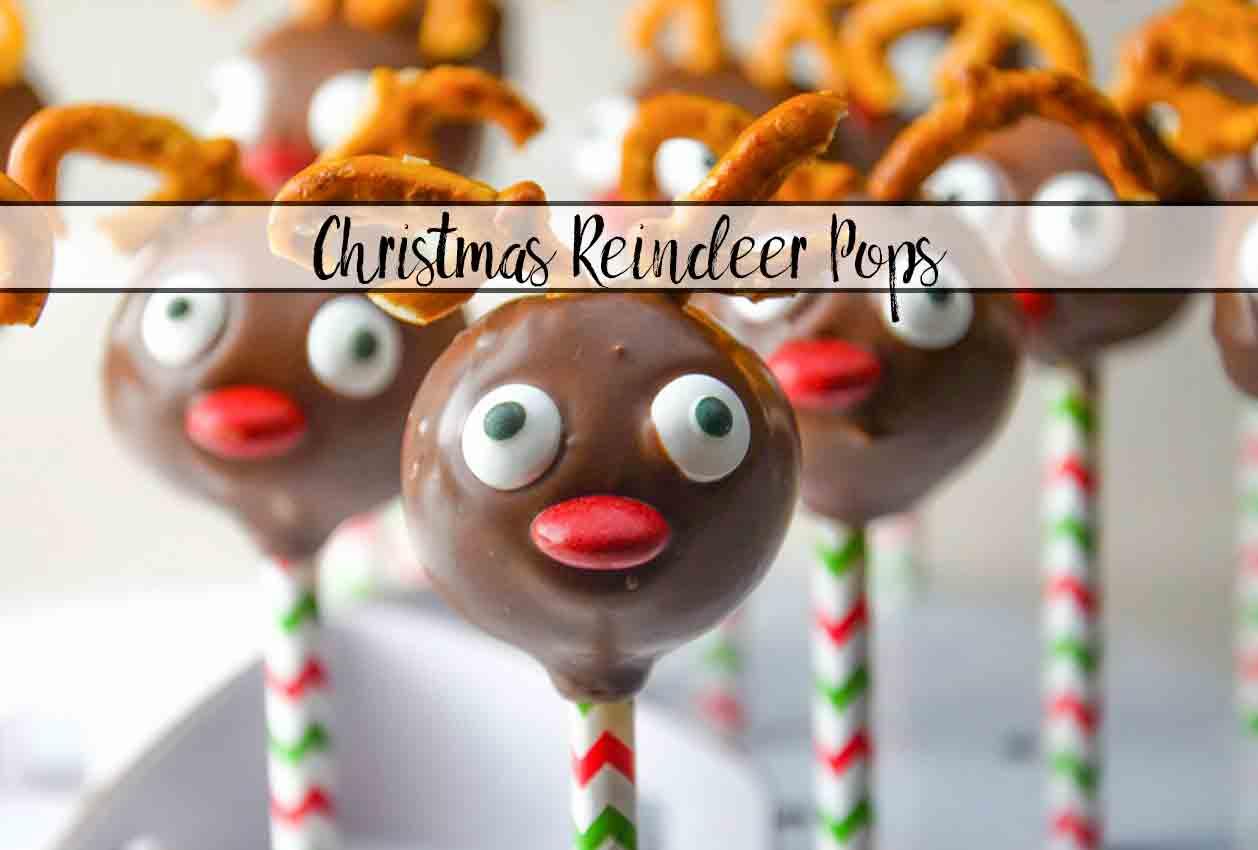 Christmas Reindeer Cake Pops