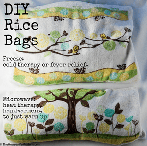 DIY Rice Bags: Use for Hot or Cold. Easy to make, cheap, and reusable.