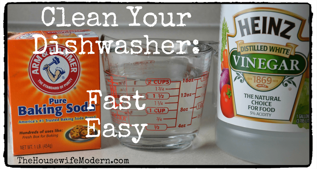 Clean Your Dishwasher: Fast, easy, 2 simple ingredients.
