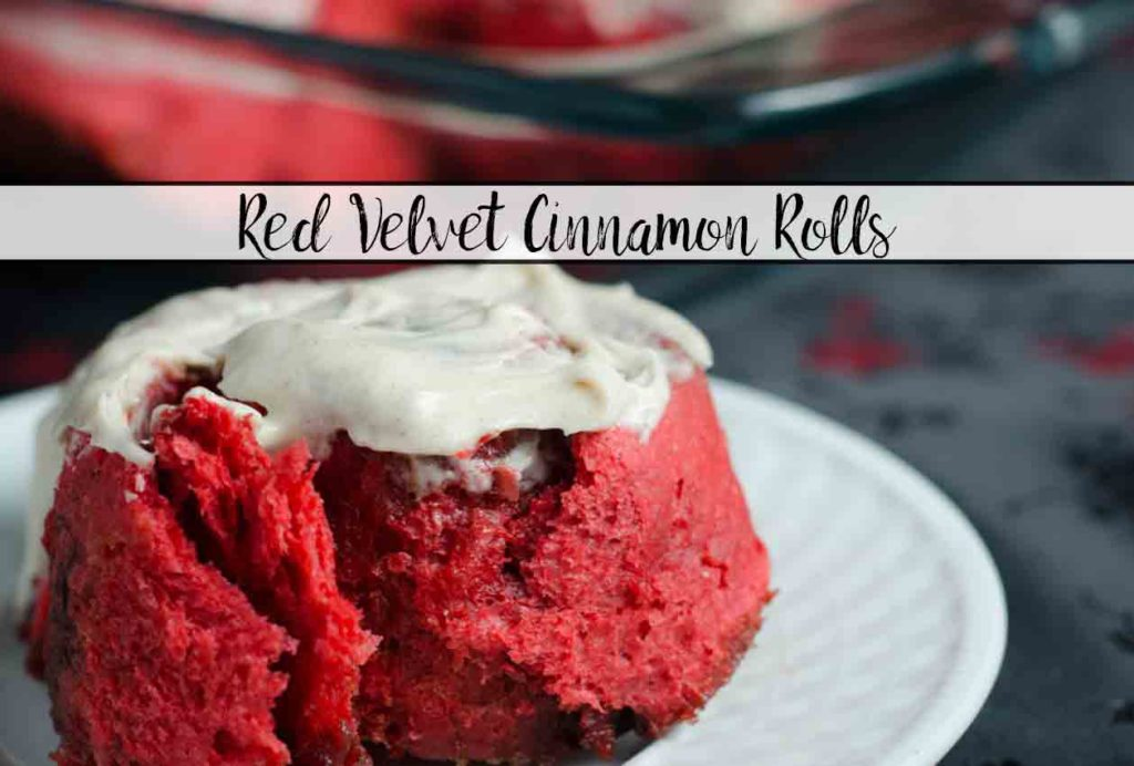 Red Velvet Cinnamon Rolls: Soft, delicious, cinnamon rolls combined with red velvet flavor, and topped with cinnamon cream cheese frosting.