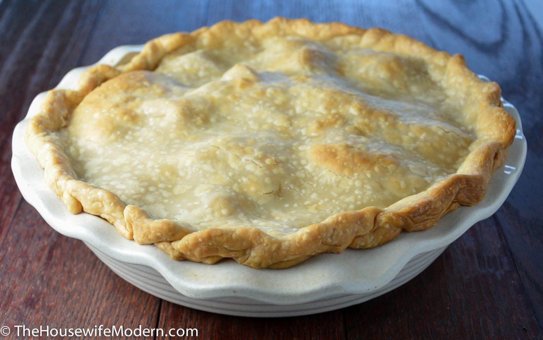 Homemade chicken pot pie recipe: buttery crust, luscious filling, homemade taste.