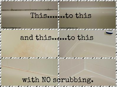 How to Remove Impossible Bathtub Stains and Mold…without Scrubbing