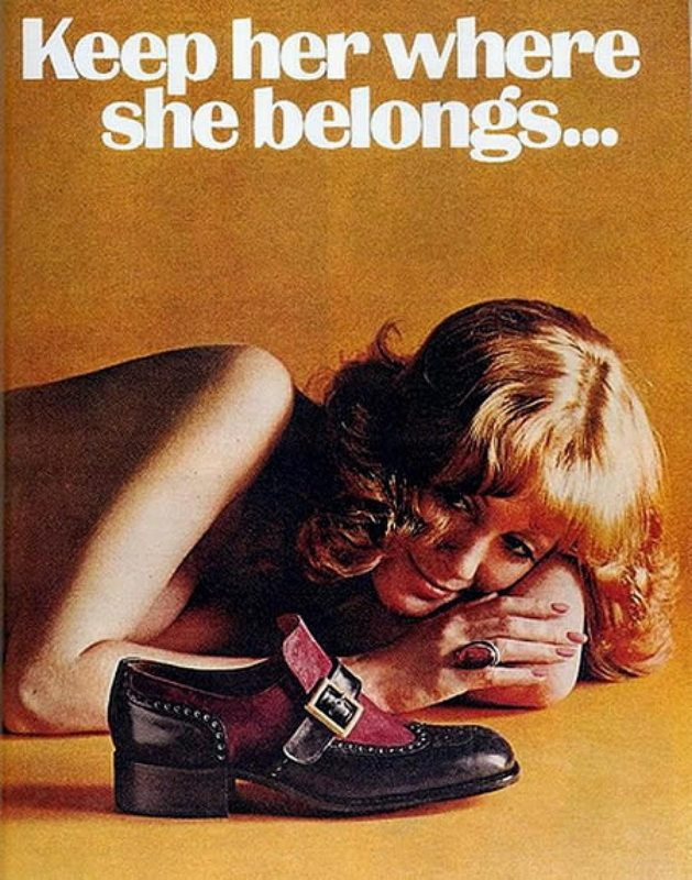 Sexist Vintage Ad: Keep her where she belongs…