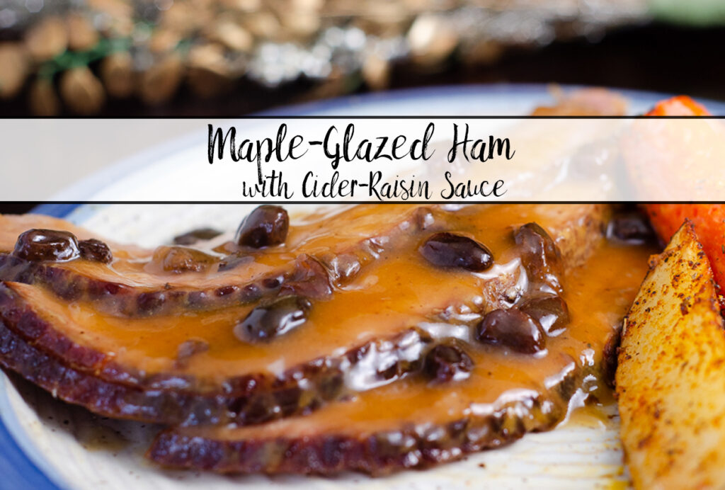 Featured image for maple glazed ham.