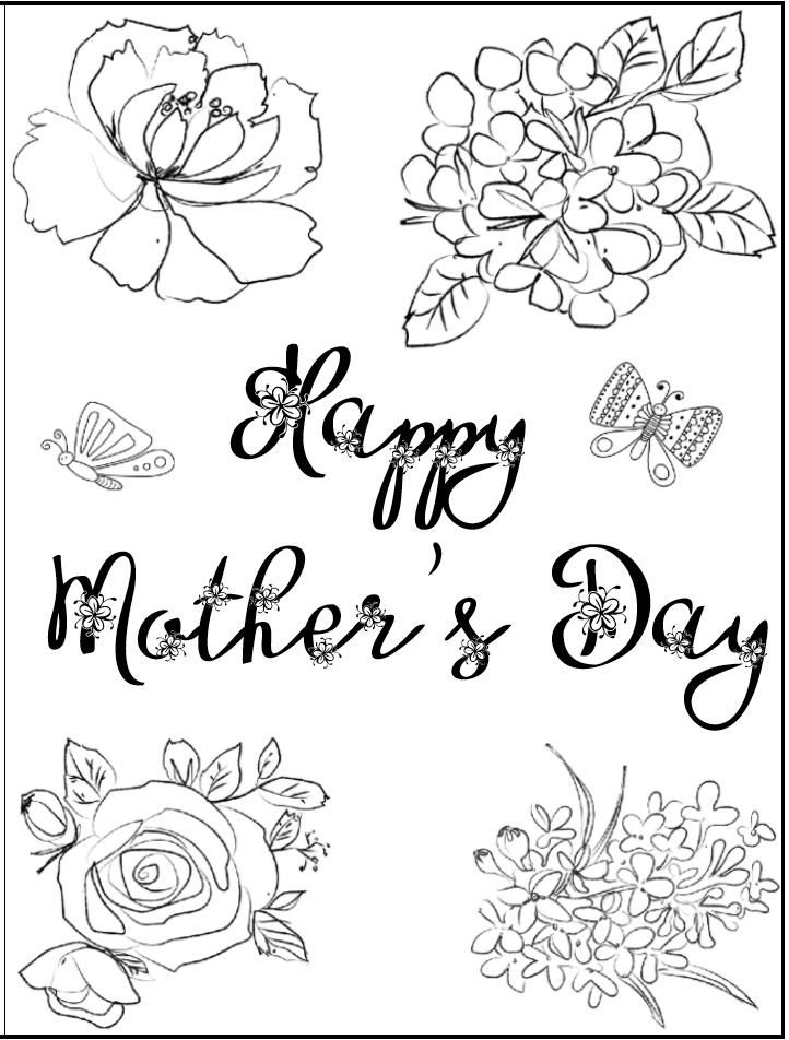 image relating to Printable Mothers Day Cards to Color referred to as Cost-free Printable Moms Working day Playing cards (some of them by yourself can shade!)
