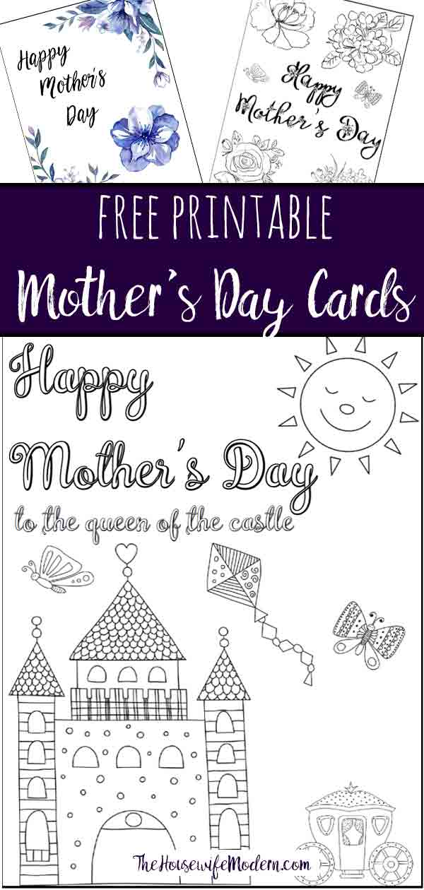 Free Printable Mother's Day Cards. 3 different designs…some you can color! Color and give a personalized card she can't get anywhere else.