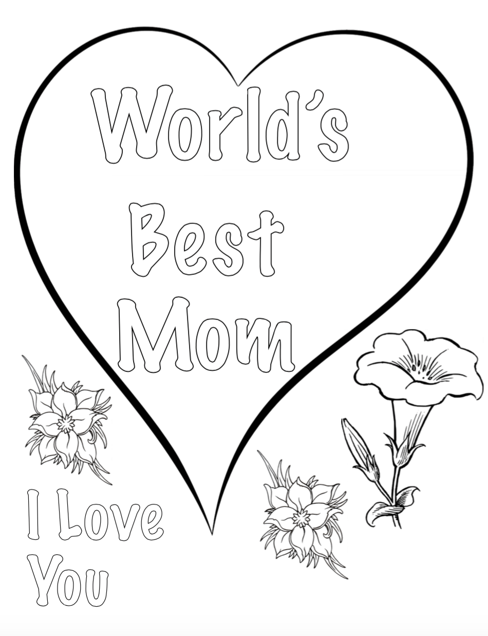 Free Printable coloring pages for Mother's Day! Also has a coloring sheet for kids to color for grandma.